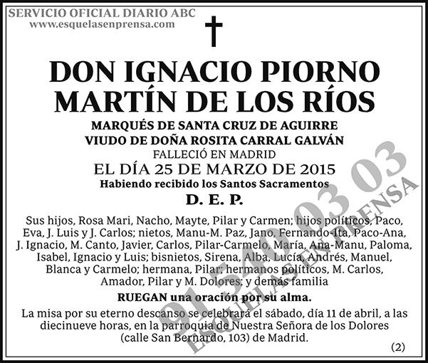 Ignacio Piorno Martín de los Ríos